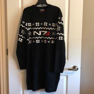 N7 Mass Effect Sweater Dress Size 2XL